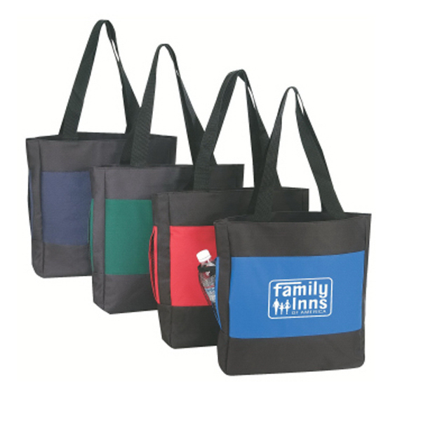 Two-Tone Tote with Mesh Pocket