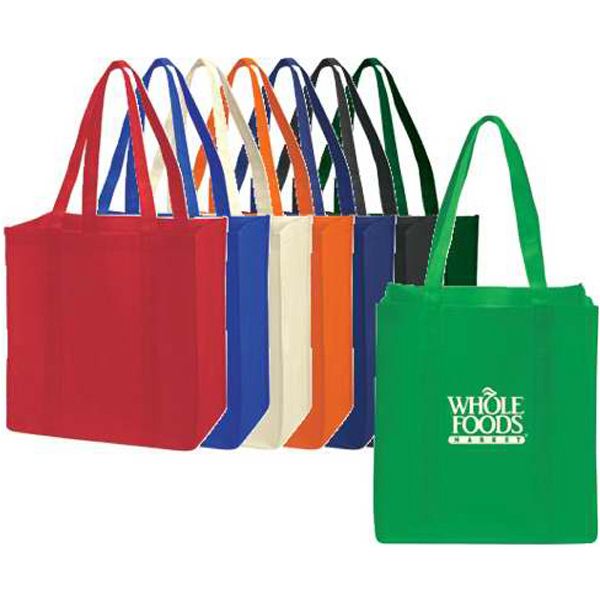 Extra-Wide Non-Woven Tote with Bottom Stiffener