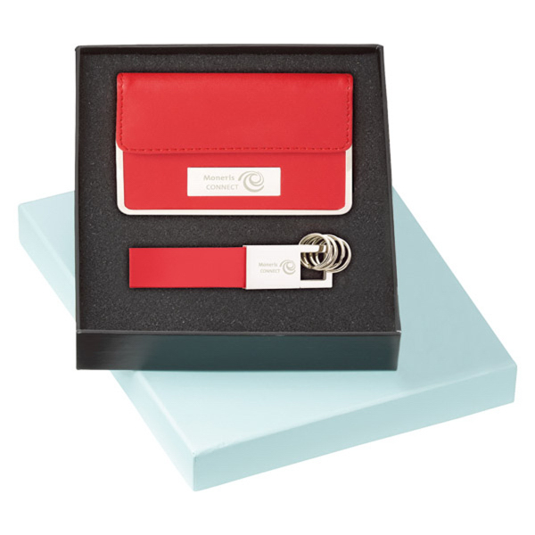 Gift Box for Card Case and Key Ring Set