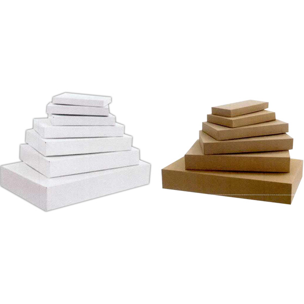 White Gloss Apparel Boxes - 2 Piece Pop-Up