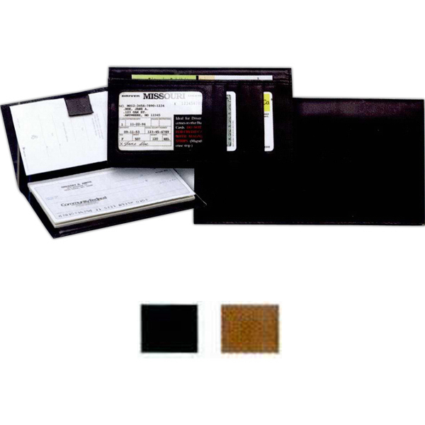 pretty nice fdb8d cae25 Leather Deluxe I.D. Checkbook Cover - GOimprints