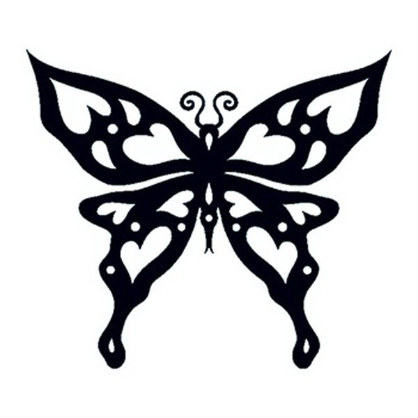 Glow in the Dark Butterfly Temporary Tattoo