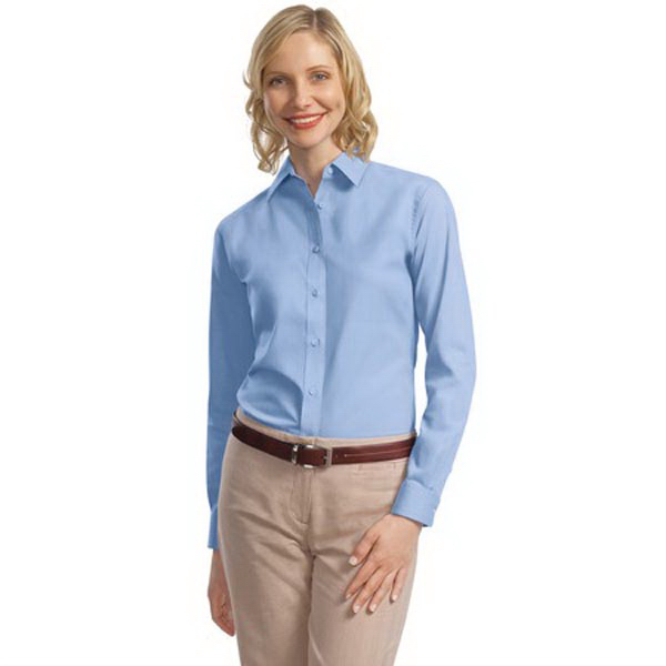 Port Authority Womens Long Sleeve Value Poplin Shirt