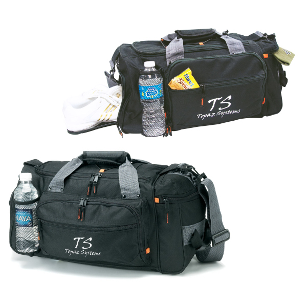 Deluxe Sports / Duffel Bag with Bottle Holder
