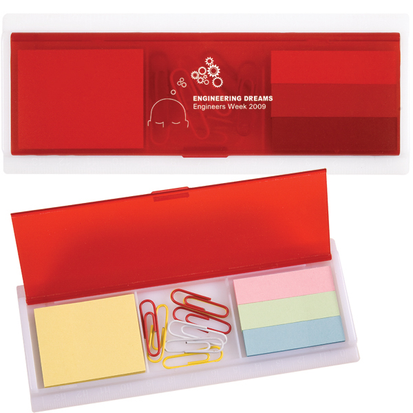 Sticky Note and Paper Clip Ruler Case