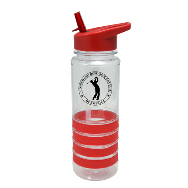 25 oz. Sports Bottle with Matching Rubber Grip