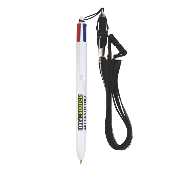 BIC (R) 4-Color (TM) Pen with Lanyard