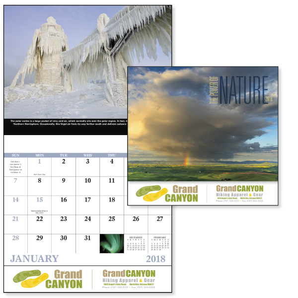 Stapled The Power of Nature Scenic Appointment Calendar