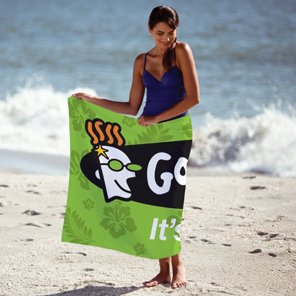 Custom Fiber Reactive Beach Towel