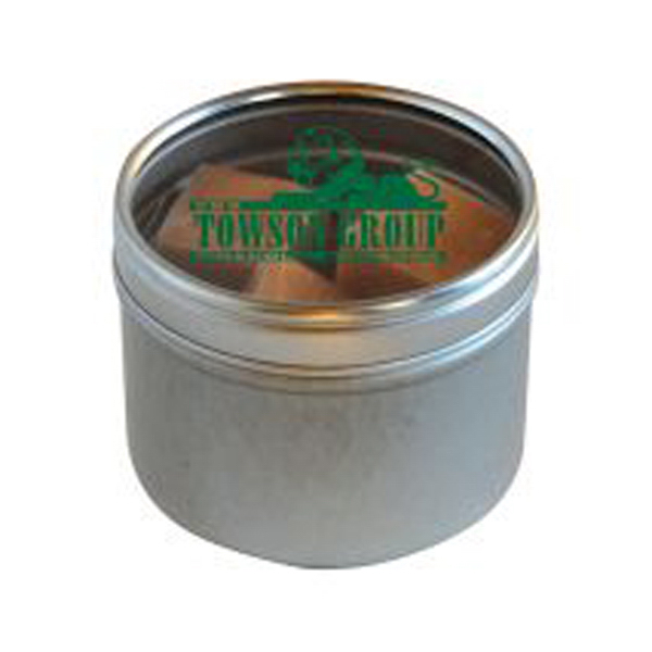 Small Round Windows: Butterscotch Hard Candy In Small Round Window Tin