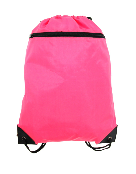 Classic Drawstring Backpack with Front Zipper Pocket