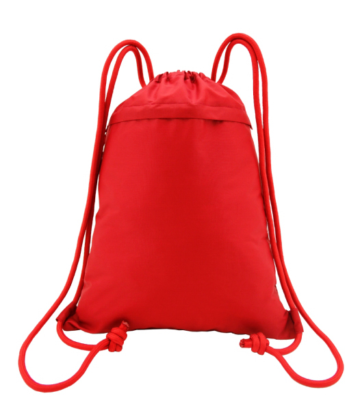 Heavy Duty Light Weight Drawstring Backpack w/ Front Zipper