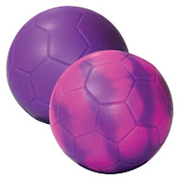 """Purple/Pink """"Mood"""" Soccer Ball Stress Reliever"""