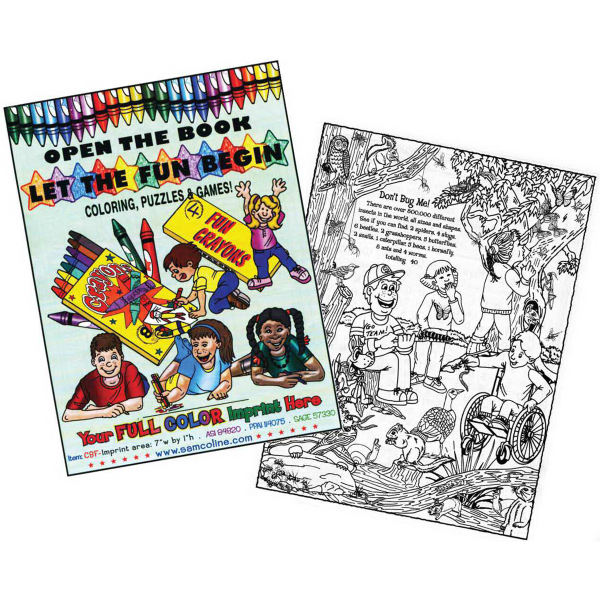 Custom Coloring Activity Books Goimprints