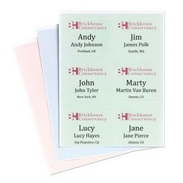 4 x 3 classic stick on paper name badge goimprints