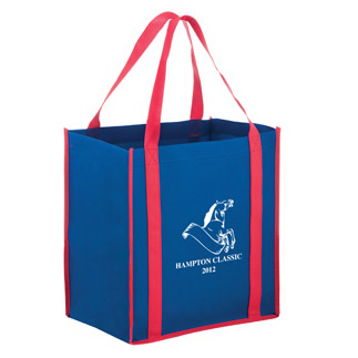Two Tone Non-woven Tote with contrasting handle and trim