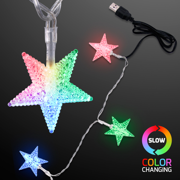 light up usb color change star string lights blank