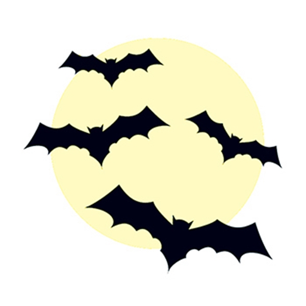 Glow in the Dark Bats Temporary Tattoo