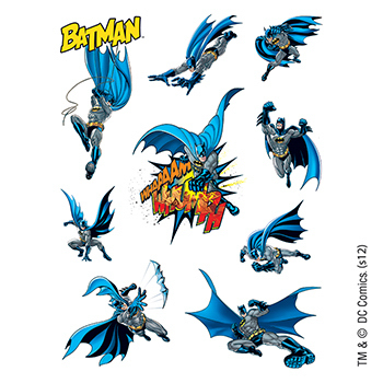 Warner Brothers: Batman Temporary Tattoo Assortment Sheet