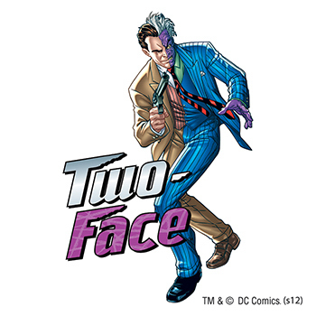 Warner Brothers: Two-Face Temporary Tattoo