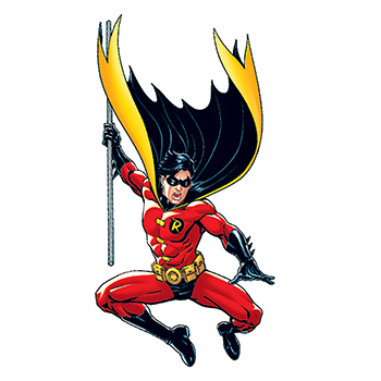 Warner Brothers: Robin with Staff Temporary Tattoo