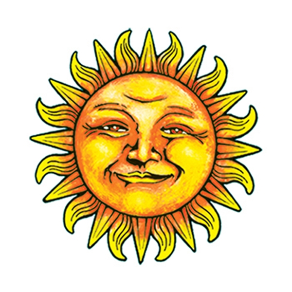 Smiling Sun Temporary Tattoo