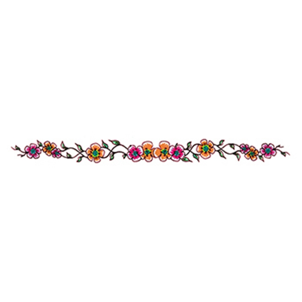 Orange and Pink Flowers Temporary Tattoo