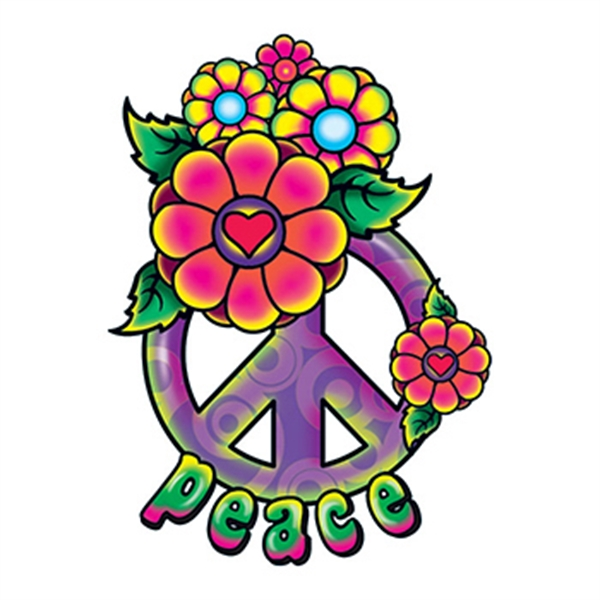 70 Peace Sign Tattoos For Men: Hippie Peace Sign Temporary Tattoo
