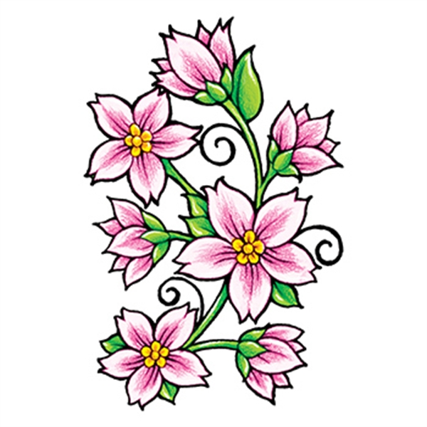 Classic Girls: Flowers and Vines Temporary Tattoo