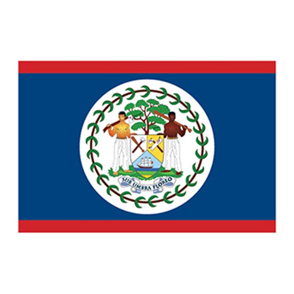 Flag of Belize Temporary Tattoo