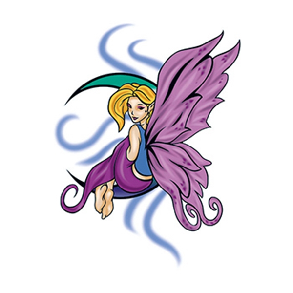 Mythical Purple Fairy Temporary Tattoo