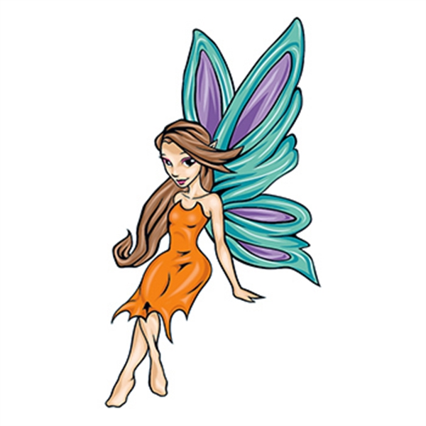 Mythical Cartoon Fairy Temporary Tattoo