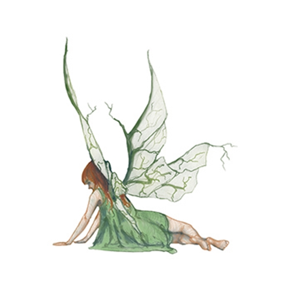 Mythical Green Fairy Nymph Temporary Tattoo