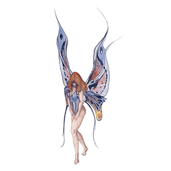 Mythical Blue Fairy Nymph Temporary Tattoo