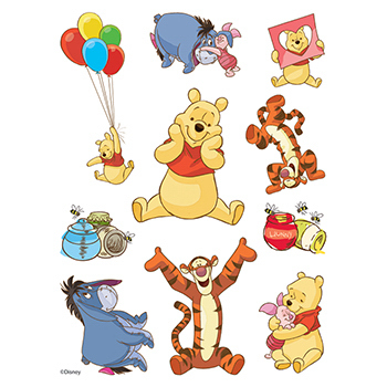 Winnie the Pooh Assortment of Temporary Tattoos