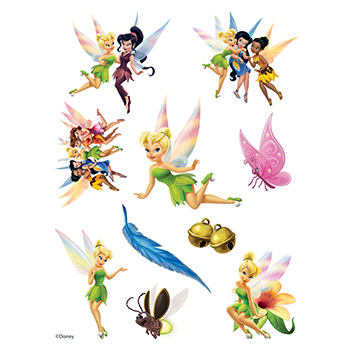 Tinker Bell Assortment of Temporary Tattoos