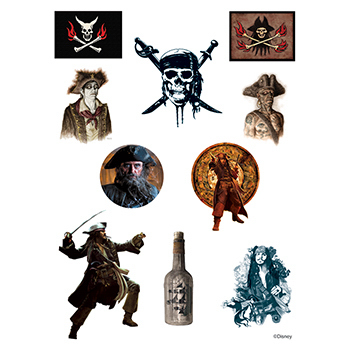 Pirates of the Caribbean Assortment of Temporary Tattoos