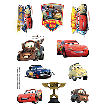 Cars Assortment of Temporary Tattoos