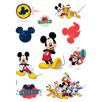 Mickey Mouse Assortment of Temporary Tattoos