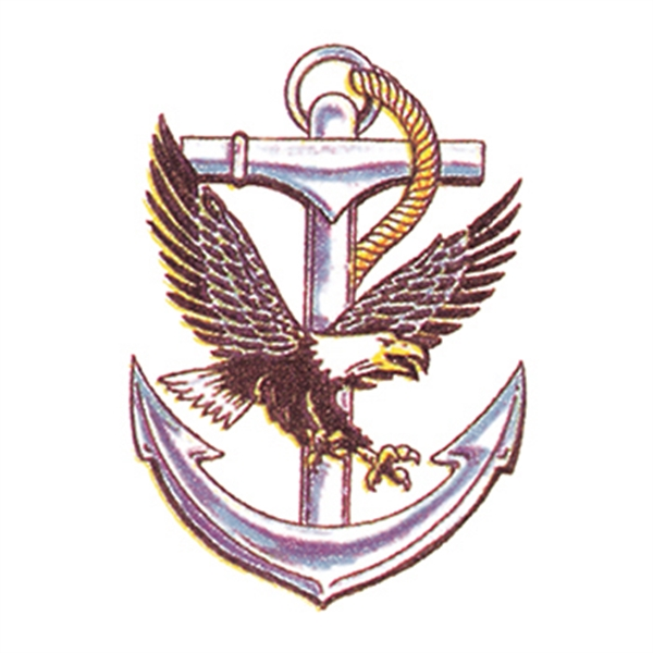 Eagle and Anchor Temporary Tattoo