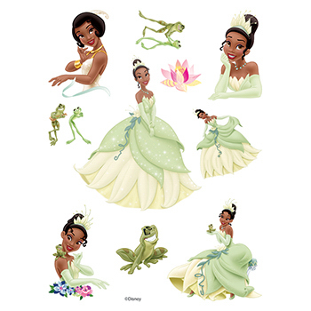 The Princess and the Frog Assortment of Temporary Tattoos