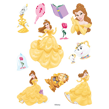 Beauty and the Beast Assortment of Temporary Tattoos