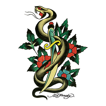 Ed Hardy Snake and Dagger Temporary Tattoo