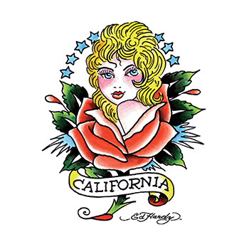 Ed Hardy California Girl Temporary Tattoo