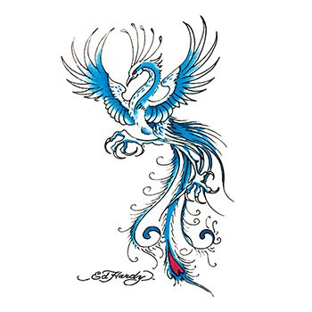 Ed Hardy Peacock Temporary Tattoo
