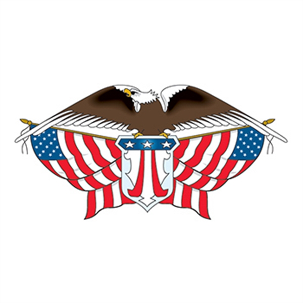 American Eagle with Flags Temporary Tattoo