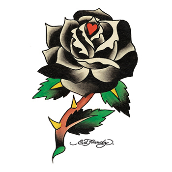Ed Hardy Black Rose Temporary Tattoo