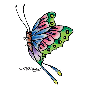 Ed Hardy Butterfly Temporary Tattoo
