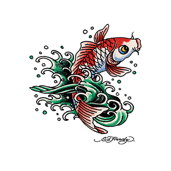 Ed Hardy Koi Fish Temporary Tattoo
