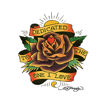 Ed Hardy Dedicated Rose Temporary Tattoo